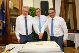 150-307 Die Börse feiert ihren 150-jährigen Bestand © Werner Krug / Börse für Landwirtschaftliche Produkte in Wien