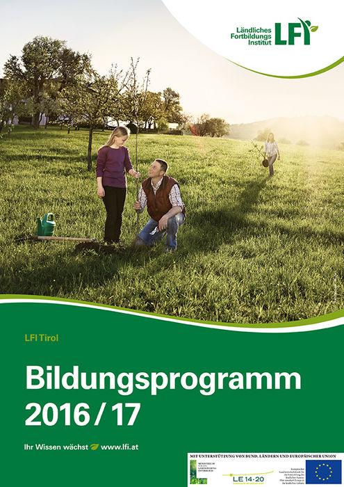 Titelseite_LFI Bildungsprogramm_Tirol 2016_72dpi