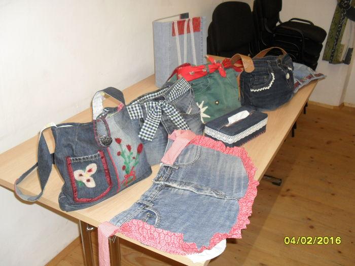 Jeans recycling  aus alt mach neu  Landwirtschaftskammer  ~ Nähmaschine Ybbs