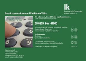 Inserat Telefon BBK WaidhofenY