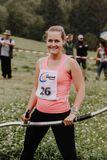 Gewinnerin Mädchen Klasse I Sandra Achleitner kurz vor dem Start