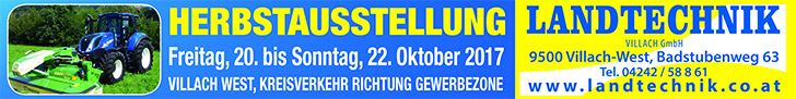Landtechnik Superbanner Herbstausstellung ©LK ANZEIGEN