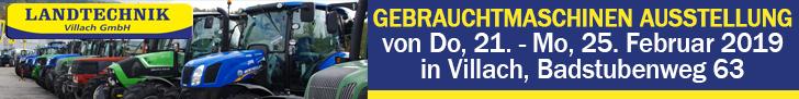 Landtechnik Villach Gebrauchtmaschinen Ausstellung Banner suchetraktor.at ©SUCHETRAKTOR